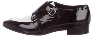 Jimmy Choo Monkstrap Bi-Color Loafers