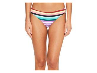 Bikini Lab THE Stripeout Cinched Back Hipster Bikini Bottom Women's Swimwear