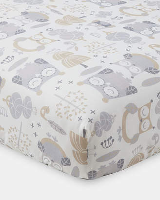 Levtex Night Owl Fitted Crib Sheet