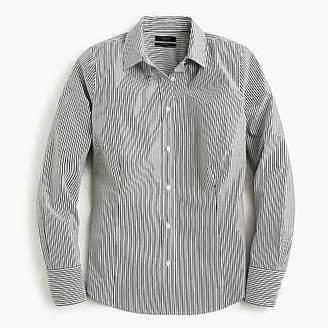 J.Crew Curvy slim stretch perfect shirt in stripe