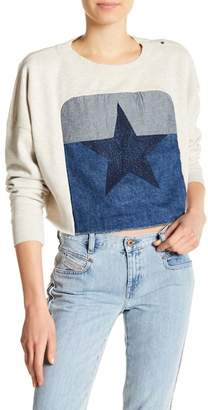 Diesel Front Star Embroidered Crop Pullover