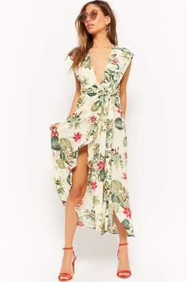 Forever 21 Wraparound Tropical High-Low Dress