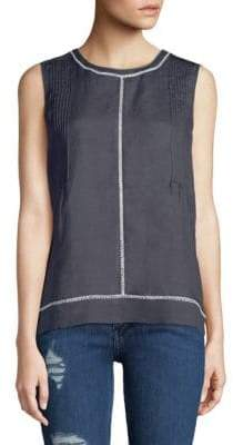 Vince Lace Insert Shell Top