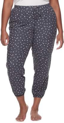 So Juniors' Plus Size SO Elastic-Hem Pajama Pants