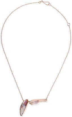 Melissa Joy Manning 14-karat Rose Gold, Opal And Amethyst Necklace
