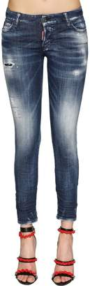 DSQUARED2 Jennifer Army Fade Cotton Denim Jeans