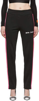 Palm Angels Black and Pink Classic Track Pants