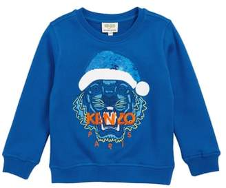 Kenzo Santa Tiger Flip Sequin Sweatshirt