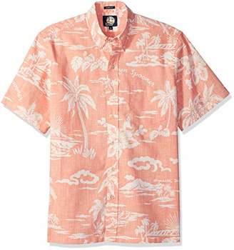 Reyn Spooner Men's My Private Isle Spooner Kloth Classic Fit Hawaiian Shirt