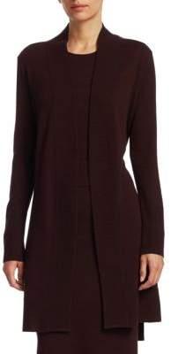 Akris Punto Long Open-Front Wool & Cashmere Cardigan