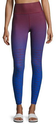 adidas by Stella McCartney Training Miracle Sculpt Ombré Performance Leggings, Blue/Red