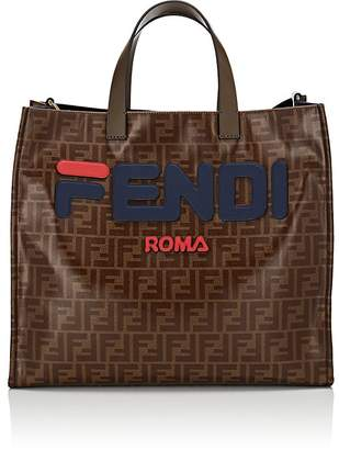 Fendi Women's Shopping Small Coated Canvas Tote Bag