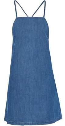 3x1 Open-Back Denim Mini Dress