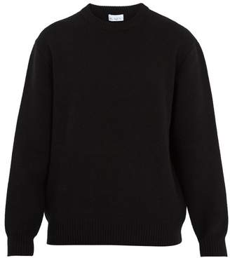 Raey Displaced Sleeve Wool Sweater - Mens - Black