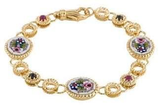 Tagliamonte 18K Ruby, Sapphire & Venetian Cameo Link Bracelet