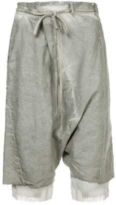 Army Of Me drawstring detail distressed shorts