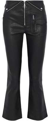 RtA Lolita Zip-Detailed Leather Kick-Flare Pants