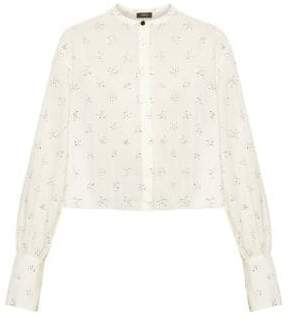 Theory Cropped Button-Down Shirt