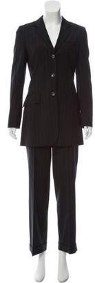 Dolce & Gabbana Pinstriped Jacket Suit Set