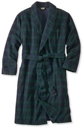 L.L. Bean L.L.Bean Scotch Plaid Flannel Robe, Lined