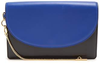 Diane von Furstenberg Saddle bi-colour leather clutch