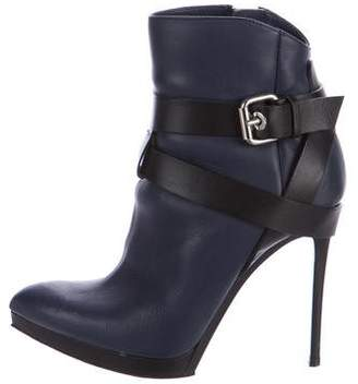Baldinini Leather Pointed-Toe Ankle Boots