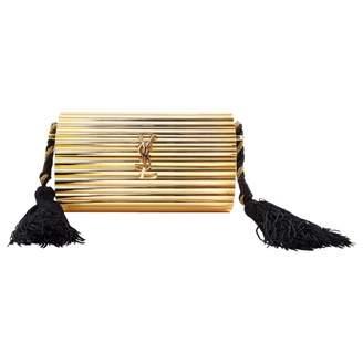 Saint Laurent Gold Metal Clutch Bag