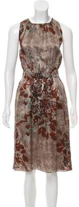 Etro Sleeveless Floral Midi Dress