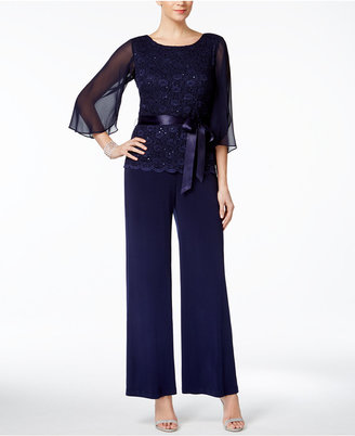Connected Sequined Wide-Leg Jumpsuit $89 thestylecure.com