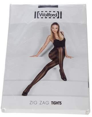 9831494d72b Wolford Zig Zag Semi-Sheer Tights w  Tags