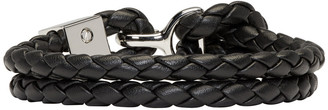Burberry Black Braided Bracelet $195 thestylecure.com