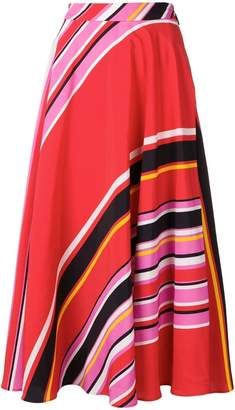 MSGM striped mid-length skirt