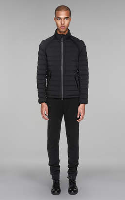 Mackage MAXFIELD Lightweight matte down coat with leather details