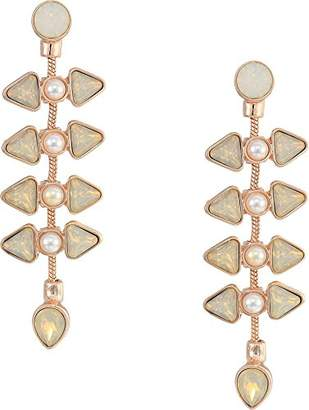 GUESS Women's Post Drop Earrings with Stones