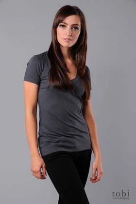 James Perse Vintage Short Sleeve V-Neck T-shirt