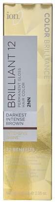 Ion Brilliant 12 Intense Neutrals 1NN Darkest Intense Black Permanent Creme Hair Color