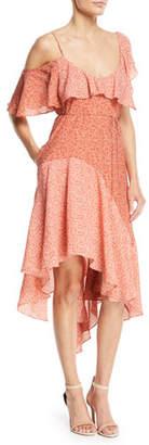 Joie Hacinthia One-Shoulder Silk Midi Dress