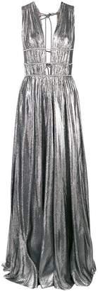 Alberta Ferretti metallic Grecian dress