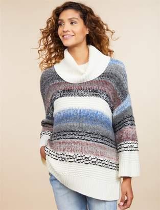 Motherhood Maternity Drape Front Cowl Neck Maternity Sweater