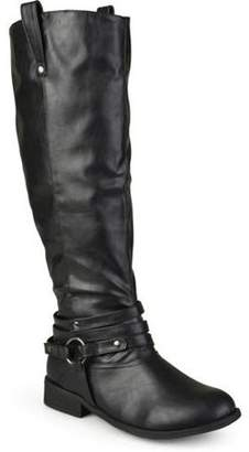 Co Brinley Women's Wide-Calf Knee-High Ankle-Strap Riding Boot
