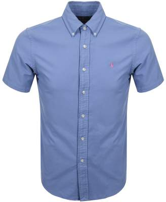 Short Sleeved Slim Fit Shirt Blue