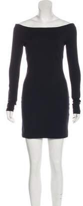 The Row Off-The-Shoulder Mini Dress