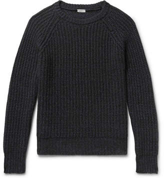 Eidos Ribbed Mélange Cashmere And Cotton-Blend Sweater