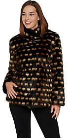 Dennis Basso Platinum Collection Faux Fur ShrugJacket