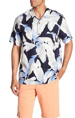 Tommy Bahama Cascara Fronds Short Sleeve Original Fit Silk Shirt