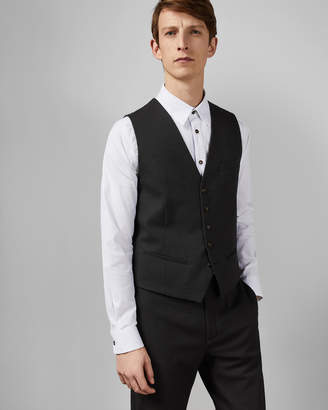 2a8bc2721dfa Ted Baker GORKWAI Textured semi plain waistcoat