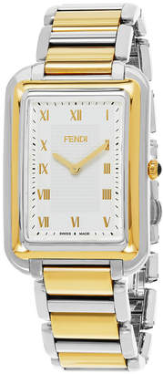 Fendi Men's Two-Tone 'Classico Rectangle' Watch