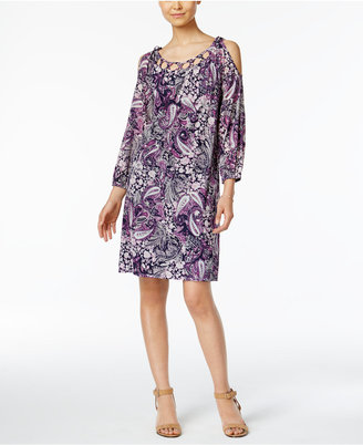 Style & Co Paisley-Print Cold-Shoulder Dress, Only at Macy's $59.50 thestylecure.com