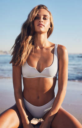 LA Hearts Summer Notch Ribbed Bikini Top