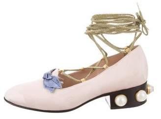 Gucci Jacquard Pearl Flats